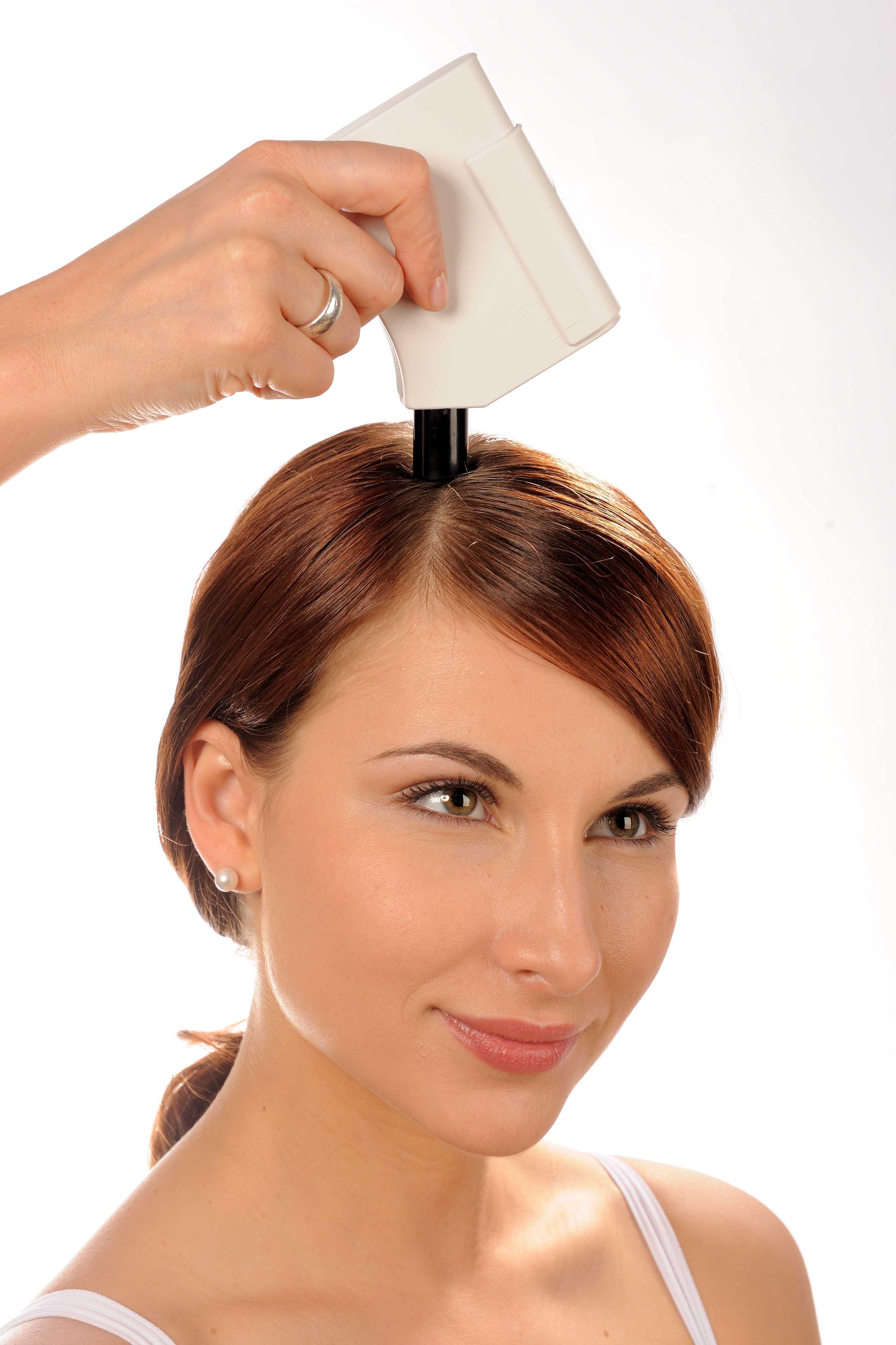 Mesure du taux de sébum sur cuir chevelu